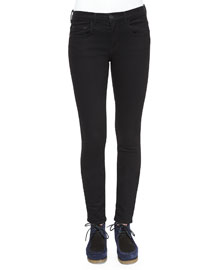 Ultra-Skinny Denim Jeans, Black