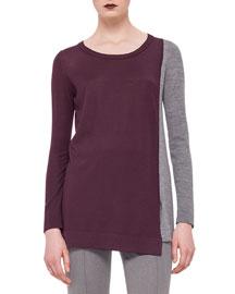 Colorblock Scoop-Neck Sweater