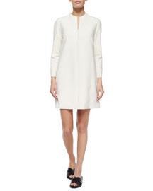 Scuba-Knit A-Line Dress