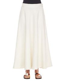 Linen Long Circle Skirt