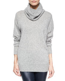 Superfine Cashmere-Blend Slouchy Turtleneck Sweater