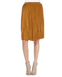 Accordion Pleated Straight Skirt
