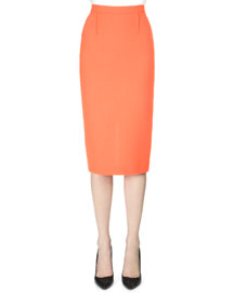 Double-Faced Midi Pencil Skirt