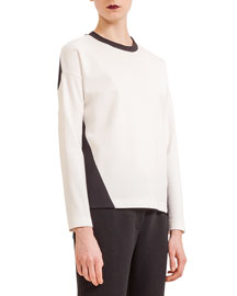 Colorblock Jersey Scoop-Neck Top