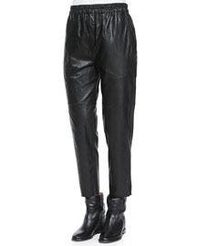 Jan Leatherette Ankle Pants