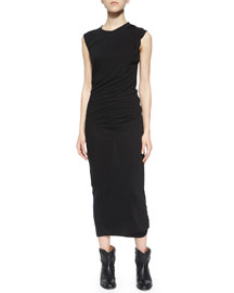 Warrick Draped Jersey Midi Dress