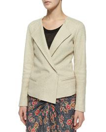 Denzel Wing-Lapel Wool-Blend Jacket