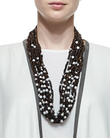 Multi-Strand Coconut Bead Necklace