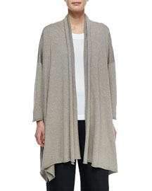Open Draped Shimmer Cardigan