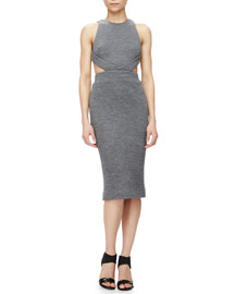 Cutout Knit Sheath Dress