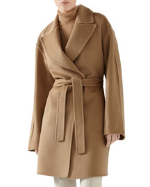 Double Wool Wrap Coat