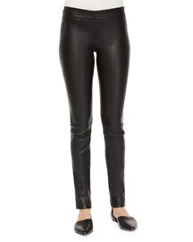 Skinny Leather Moto Leggings