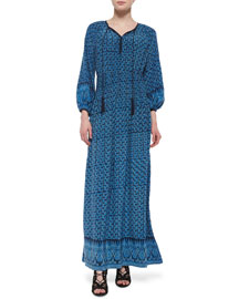 Dia Abstract-Print Long Dress