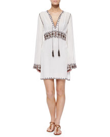 Colomba Contrast-Embroidered Dress