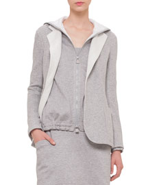 Bicolor Silk Fleece Reversible Jacket