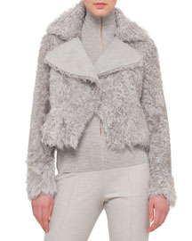 Kalgan Lamb Shearling Fur Short Jacket