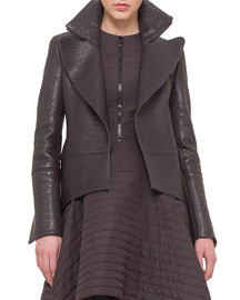 Stamped Napa Leather Tailcoat