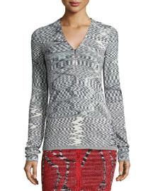 Space Dyed Zigzag Cardigan