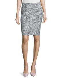 Zigzag Short Pencil Skirt