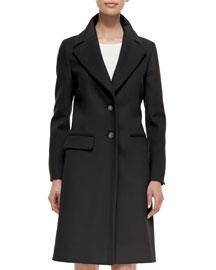 Cashmere-Blend Two-Button Long Coat
