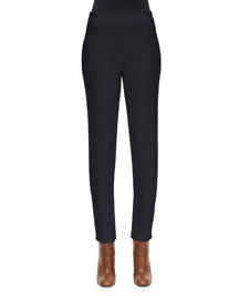 Stretch Double-Faced Gabardine Pants