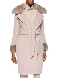 Vargas Fur-Trimmed Blanket Coat