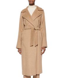 Manuel Camel Hair Wrap Coat