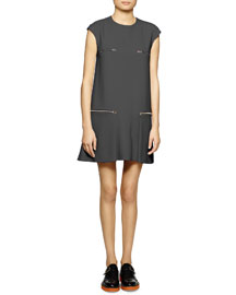 Cady Zipper Shift Dress