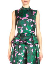 Hilda Floral-Print Peplum Top