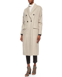 Wool-Cashmere Double-Breasted Coat