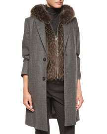 Wool-Cashmere Button Coat