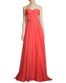 Helga Strapless Grecian Gown