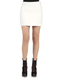 Seamed Gazar Mini Skirt