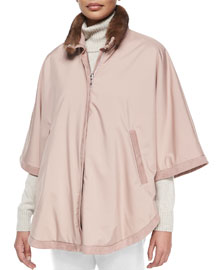 Winter Vail Reversible Windmate Cape With Detachable Fur Collar