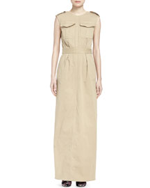 Dresda Two-Pocket Utility Maxi Dress