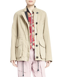 Vigra Twill Field Jacket with Jacquard Liner