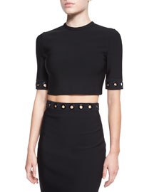 Grommet-Trimmed Crop Top