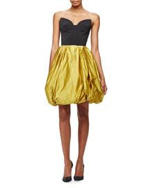 Strapless Sweetheart Cutout Bubble Dress