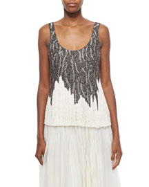 Bead-Embroidered Fringe Top