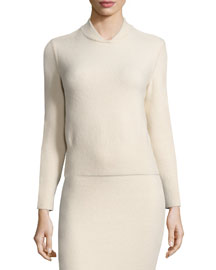 Borbona Cashmere-Blend Knit Sweater