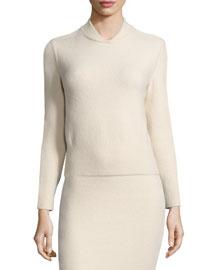 Borbona Cashmere-Blend Knit Sweater
