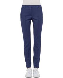 Mid-Rise Slim-Leg Pants, Indigo