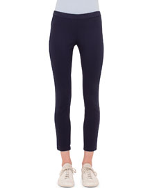 Low-Rise Fitted Ankle Pants, Indigo