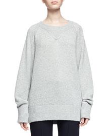 Chunky Cashmere Crewneck Sweater