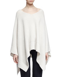 Chunky Cashmere Cape Sweater