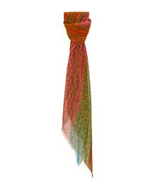 Tulip Field-Print Voile Scarf, Multi