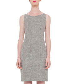 Sleeveless Round-Neck Sheath Dress