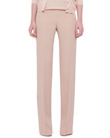 Carla Silk Marocain Pants, Blush