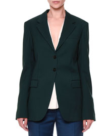 Vermeer Gabardine Two-Button Jacket
