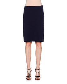 Ottoman Pencil Skirt, Navy
